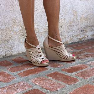 Cole Haan Air Minka Wedge Sandal Size 7.5B